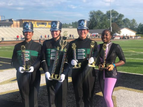 Farmington Invitational Honors PHS Band and Color Guard