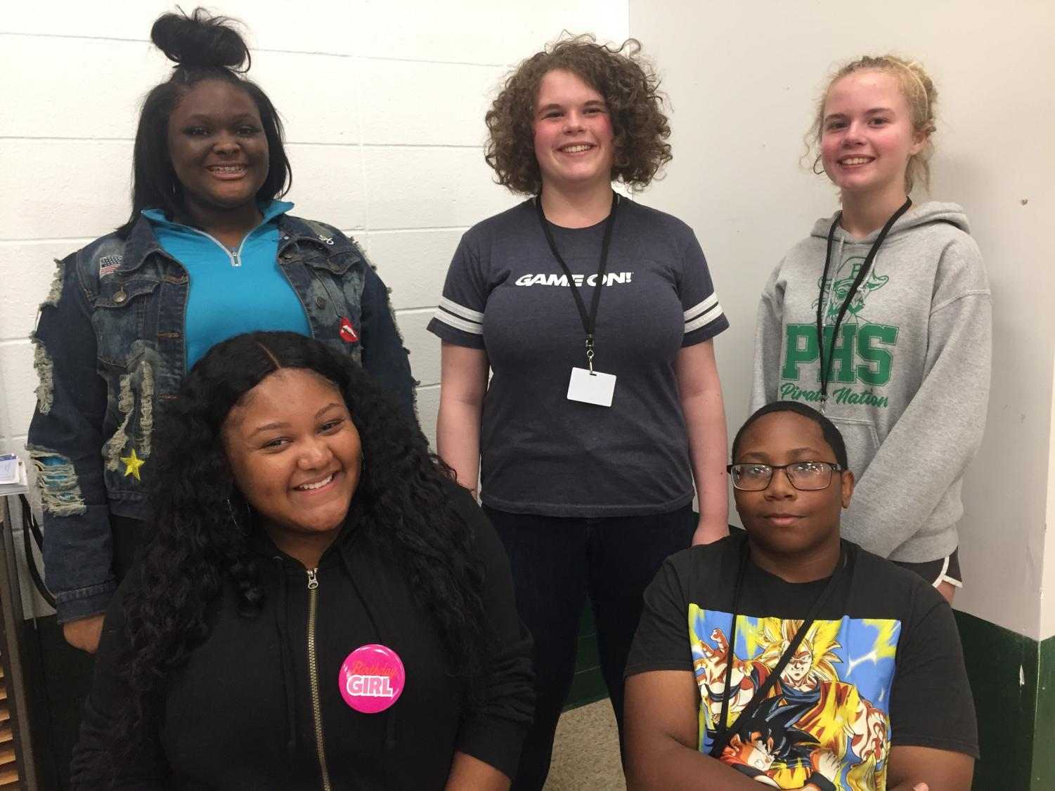 Five PHS choir members make up the 20 total selected in the area for the Opera Theatre of St. Louis Young Artist in Training Program. JaNya Cruise (10), Hannah Radican (10), Grace Radican (10), Kristen Jones (11), and Tony Washington (11).