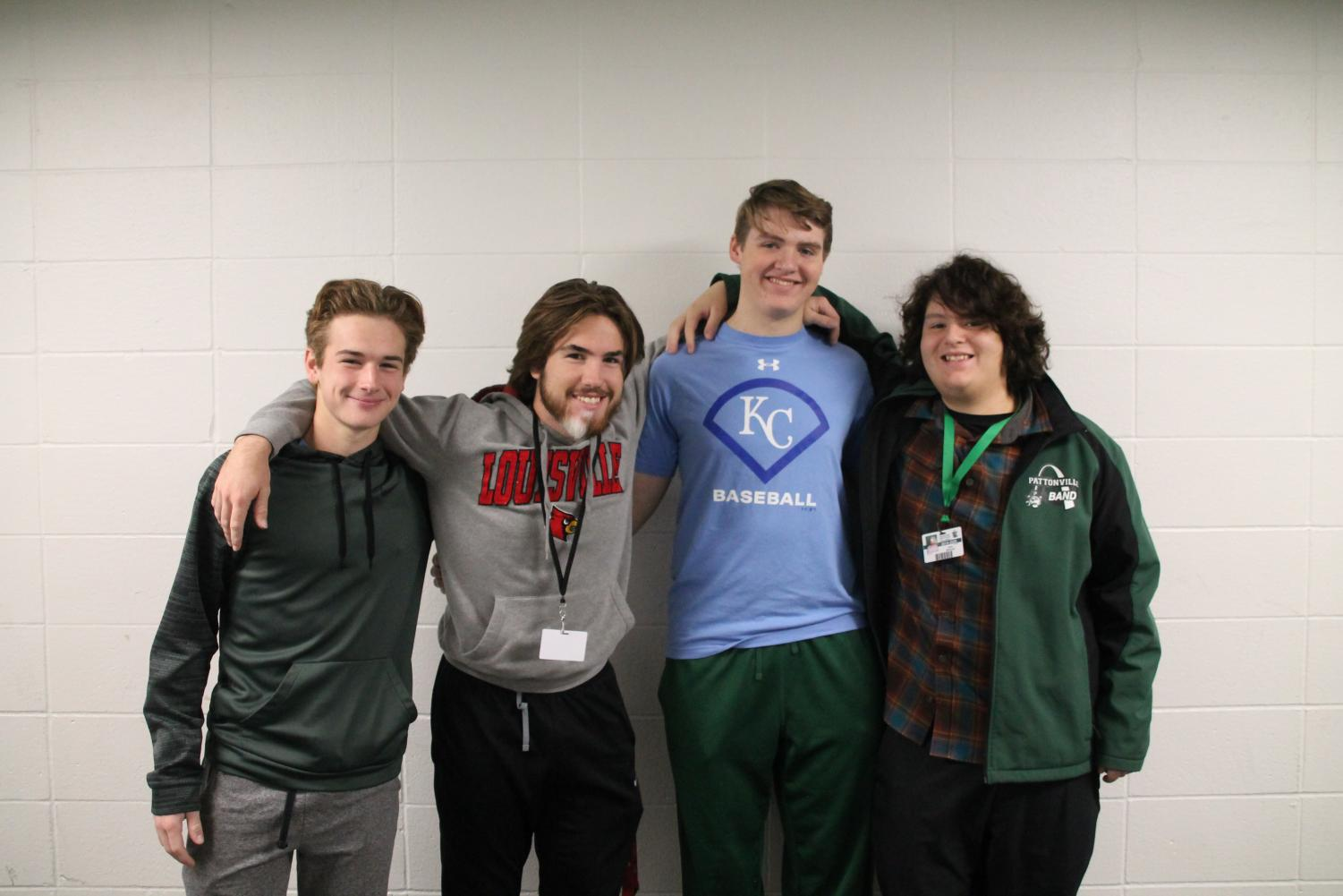 Max McFarland, Thomas McFarland, Owen Moeller, and Seth Miranda represent PHS in All-Suburban Band