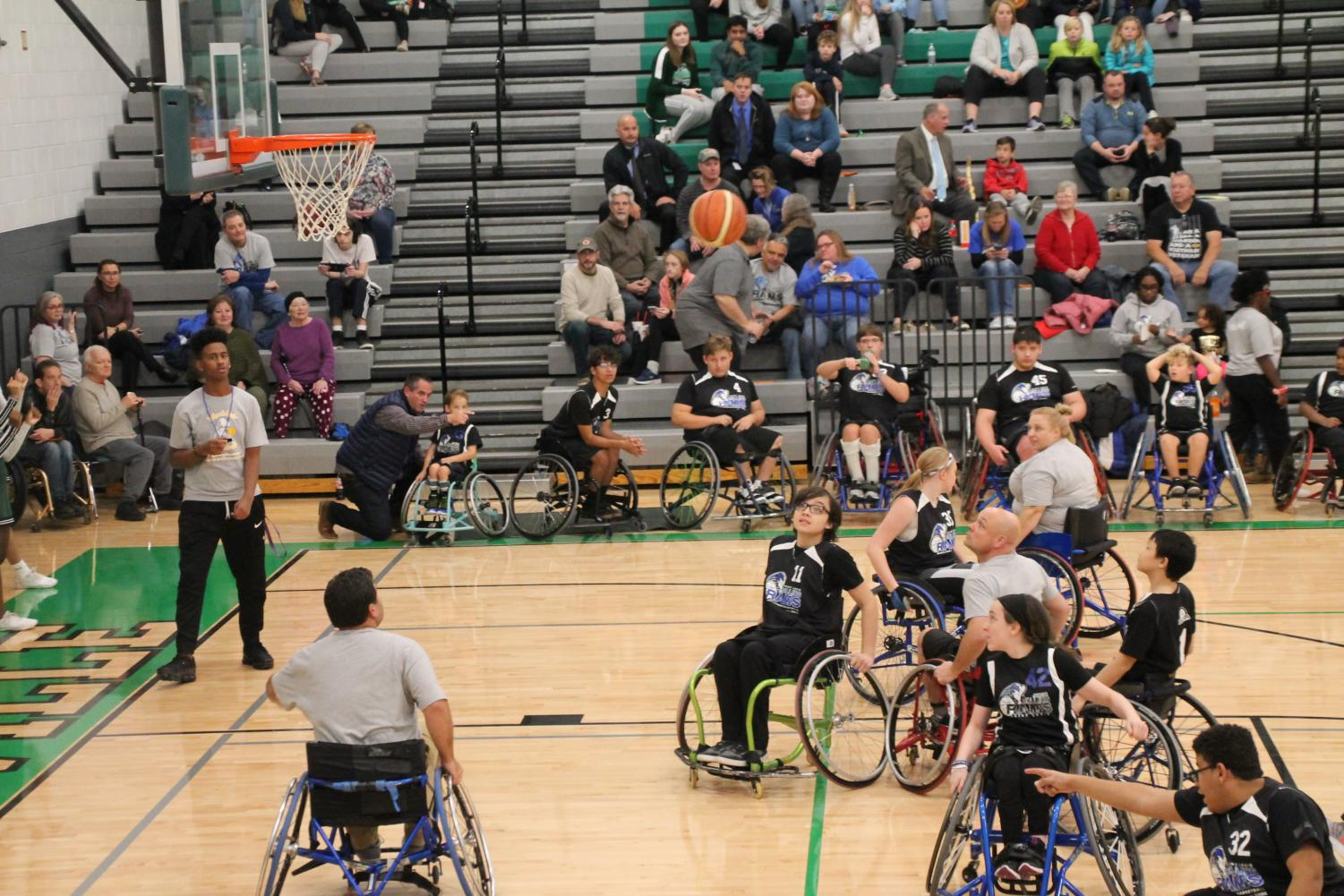 One of the Rolling Rams team members trying to make a shot against Pattonville Teachers