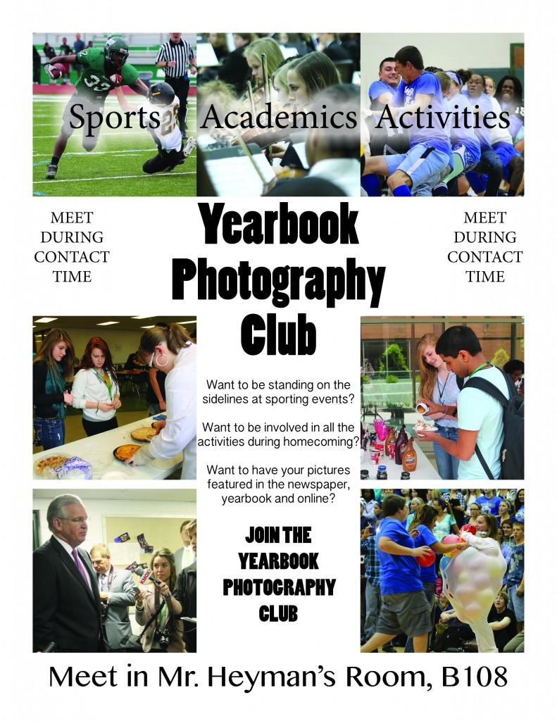 Yearbook Photography Club Flyer