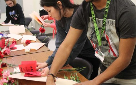 SLIDESHOW Student Council prepares carnations for distribution