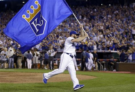 FILE - In this Sept. 30, 2014, file photo, Kansas City Royals