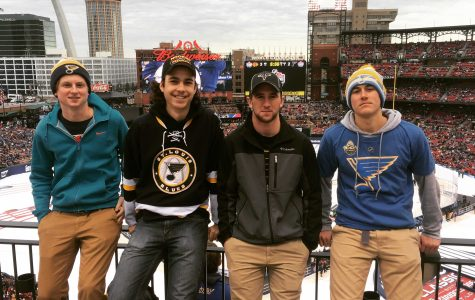 Hanford attends Blues Winter Classic game over Winter Break