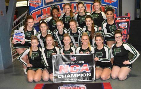 Varsity cheer finishes season with a win