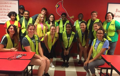 Key Club members volunteer at Cardinals game