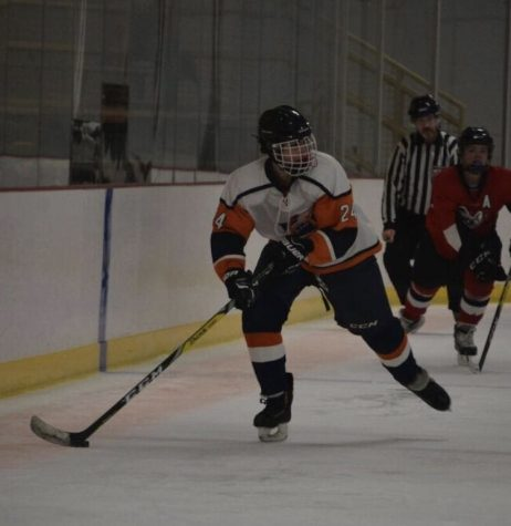 Caldwell plays hockey for a different school since Pattonville does not offer the sport