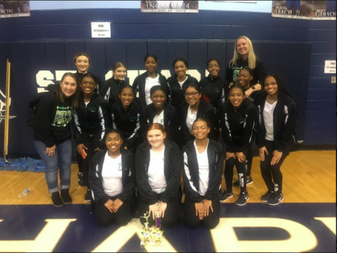 Drill Team takes 1st place in hip hop at Lindbergh Competition