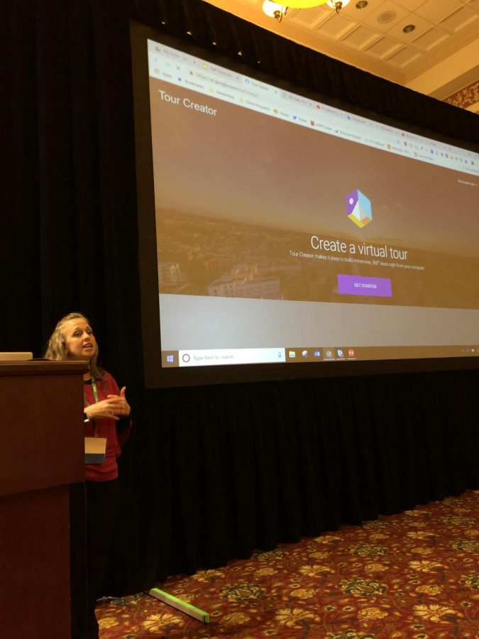 April Burton presents her session Full Circle Learning with 360-Degrees at #METC19.
