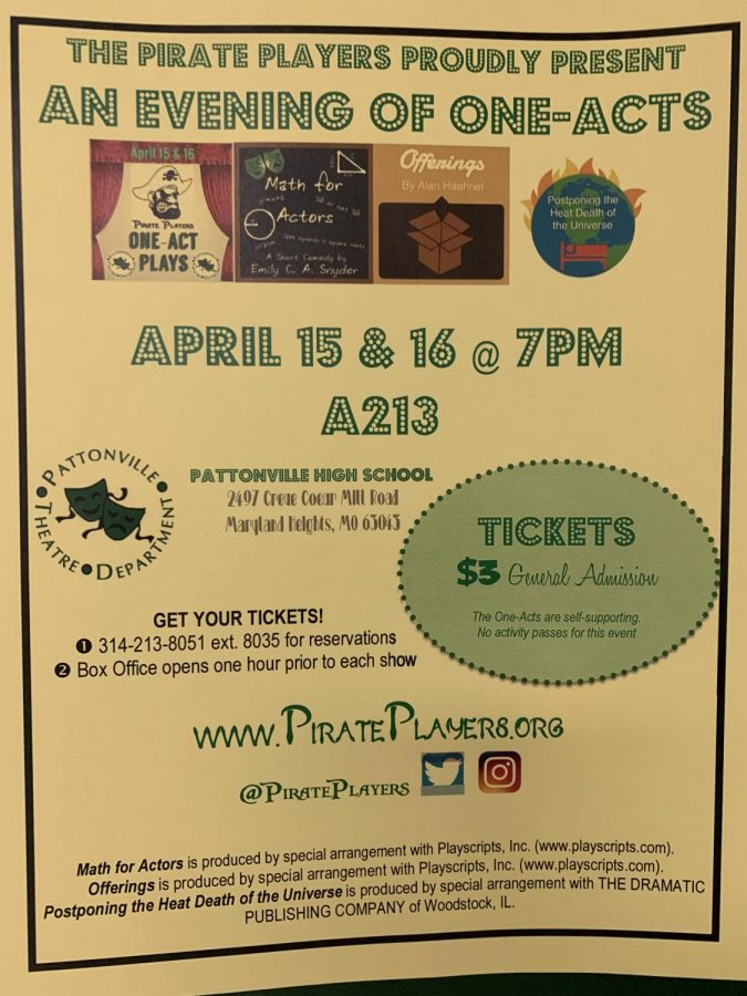 Pirate Players present an evening of One-Acts