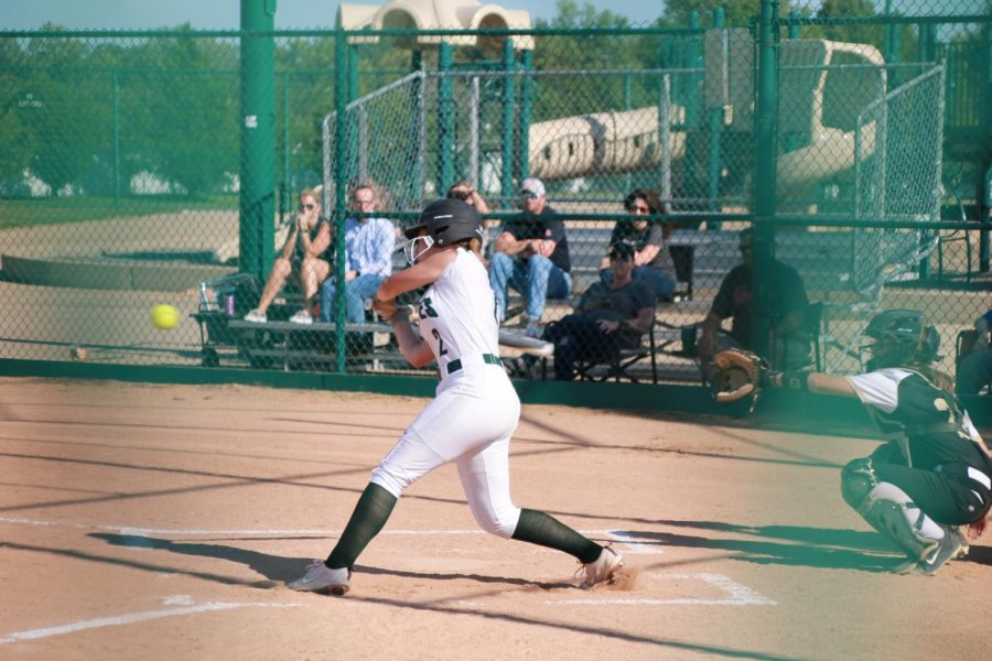 Maddie+Bailey+sets+her+sights+and+swing+on+the+incoming+pitch.