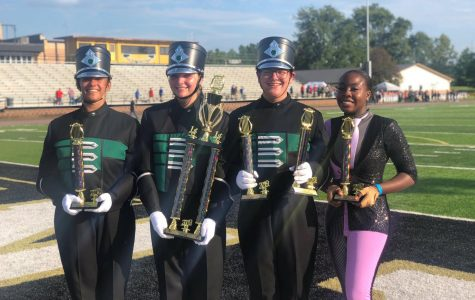 Farmington Invitational Honors PHS Band and Color Guard
