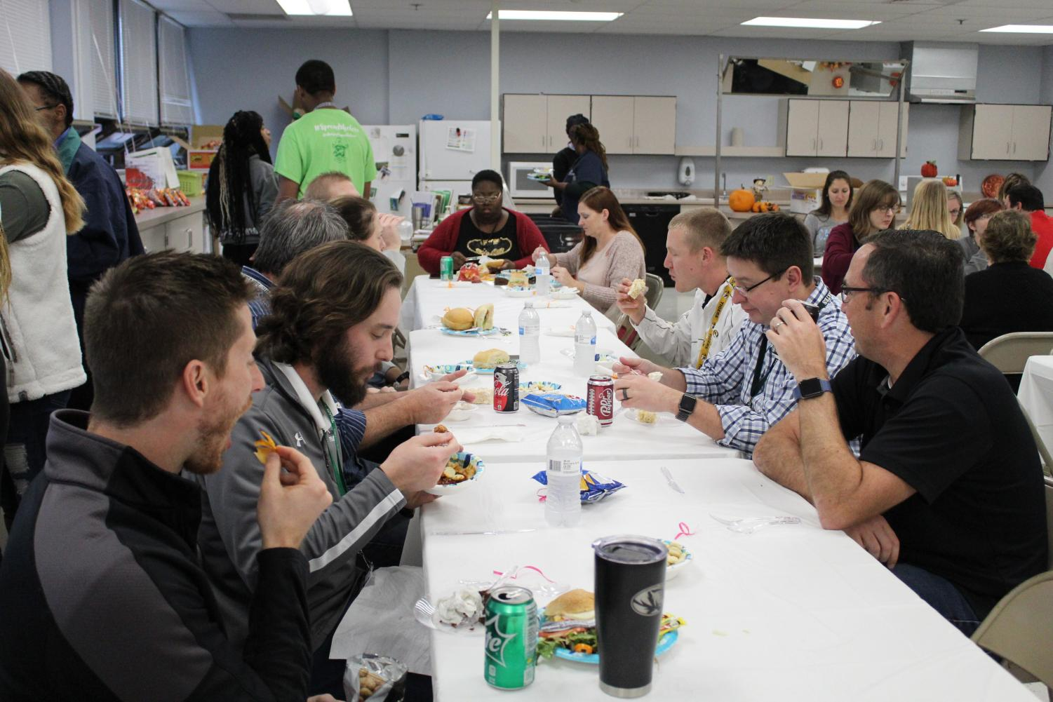 Sampling the creations of STUCO and Culinary Arts, teachers during 2nd lunch get a break from the norm thanks to students' efforts.