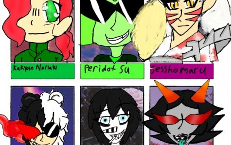 Freshman Dione Baloney accepted an  art challenge on TikTok and drew these characters.
