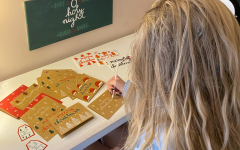 Senior Jamie Grant creates holiday cards that she sells. She has made cards since the beginning of the summer and has been able to turn a small profit.