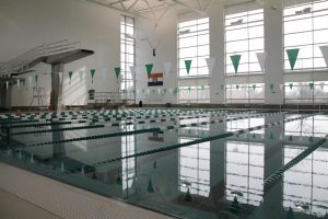 Pattonville High School's pool awaits Girls' Swimming and Diving, which resumes on Tuesday, January 5.