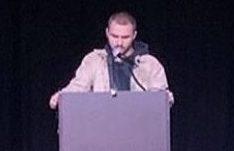 Nick Serra performs his original poem