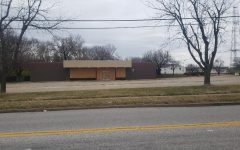 The third location of Tony's Donuts currently under construction at Dorsett Road and Fee Fee Road, Maryland Heights.