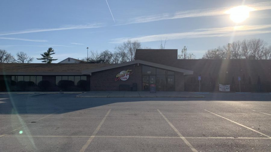 Sports Cafe is located at 3579 Pennridge Dr, right behind Bob Evans.