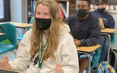 During Pirate Press, Mackenzie Rosenthal, Ian Bailey, and Christian Movick try different techniques to destress.