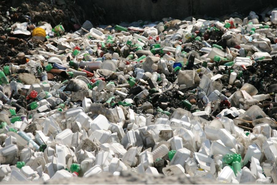 Plastic piled up in Haiti