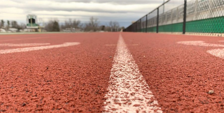 Some students used the Pattonville High School track to run during the pandemic.