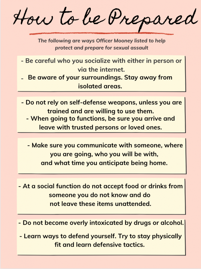 Although these tips can dramatically decrease the chances of sexual assault, they can't prevent it 100%.