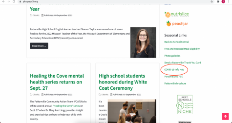 The dashboard shows relevant and frequently updated information on Covid. Pattonvilles Covid-19 Dashboard is located on the districts main website.